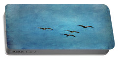 Pelicans In Flight Portable Battery Charger