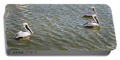 Portable Battery Charger featuring the photograph Pelicans In Florida by Oksana Semenchenko