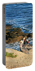 Pelicans On The Cliff - La Jolla Cove Portable Battery Charger