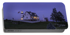 Pemaquid Point Light - Blue Hour Portable Battery Charger