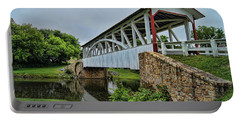 Pennsylvania Covered Bridge Portable Battery Charger by Kathy Churchman