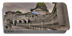 Pennsylvania State Capital Portable Battery Charger by Lois Bryan