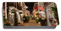 Penny Lane At Night - Rehoboth Beach Delaware Portable Battery Charger