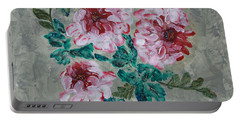 Peony Blossoms Floral Garden Art Walk Portable Battery Charger