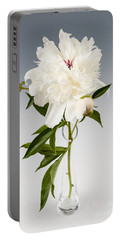 Peony Flower In Vase Portable Battery Charger