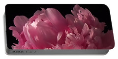 Peony Portable Battery Charger by Rona Black