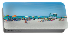 People On The Beach, Venice Beach, Gulf Portable Battery Charger by Panoramic Images