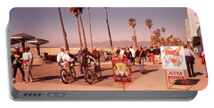 People Walking On The Sidewalk, Venice Portable Battery Charger by Panoramic Images
