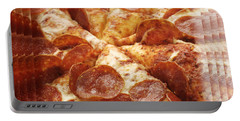 Pepperoni Pizza 25 Pyramid Portable Battery Charger