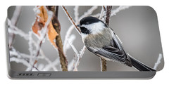 Perched Black Capped Chickadee Portable Battery Charger