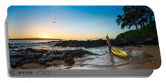 Perfect Ending - Beautiful And Secluded Secret Beach In Maui Portable Battery Charger