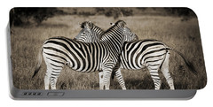 Perfect Zebras Portable Battery Charger by Delphimages Photo Creations