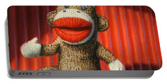 Performing Sock Monkey Portable Battery Charger