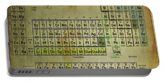 Portable Battery Charger featuring the mixed media Periodic Table Of Elements by Brian Reaves