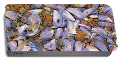 Periwinkles Muscles And Clams Portable Battery Charger by Elizabeth Dow