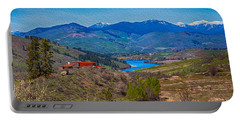 Perrygin Lake In The Methow Valley Landscape Art Portable Battery Charger