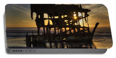 Peter Iredale Shipwreck Sunset Portable Battery Charger