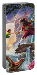 Peter Pan And Captain Hook Portable Battery Charger