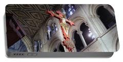 Portable Battery Charger featuring the photograph Peterborough Cathedral England by Jolanta Anna Karolska