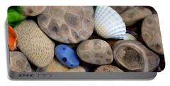 Petoskey Stones V Portable Battery Charger by Michelle Calkins
