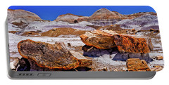 Portable Battery Charger featuring the photograph Petrified Forest - Painted Desert by Bob and Nadine Johnston