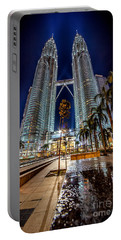 Petronas Twin Towers Portable Battery Charger by Adrian Evans