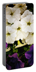 Petunias Portable Battery Charger by Susan Kinney