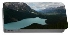 Portable Battery Charger featuring the photograph Peyote Lake In Banff Alberta by Laurel Best