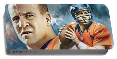 Peyton Manning Artwork Portable Battery Charger