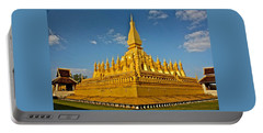 Temple Of Pha That Luang Laos Portable Battery Charger