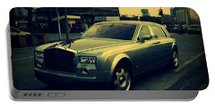Portable Battery Charger featuring the photograph Rolls Royce Phantom by Salman Ravish