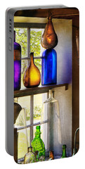 Pharmacy - Colorful Glassware  Portable Battery Charger by Mike Savad