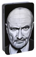 Phil Collins Portable Battery Charger by Paul Meijering