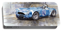 Phil Hill Ac Cobra-ford Targa Florio 1964 Portable Battery Charger