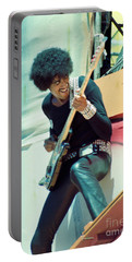 Phil Lynott Of Thin Lizzy - Black Rose Tour Day On The Green 7-4-79  Portable Battery Charger