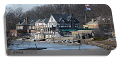 Philadelphia - Boat House Row Portable Battery Charger by Cindy Manero