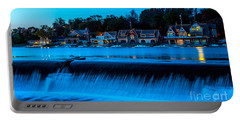 Philadelphia Boathouse Row At Sunset Portable Battery Charger