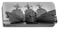 Philadelphia Navy Yard B - W  Portable Battery Charger