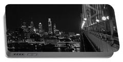 Philadelphia Night B/w Portable Battery Charger