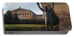 Philadelphia - Rocky  Portable Battery Charger by Cindy Manero