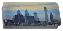 Philadelphia Skyline From Camden Portable Battery Charger by Bill Cannon