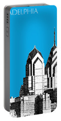 Philadelphia Skyline Liberty Place 1 - Ice Blue Portable Battery Charger