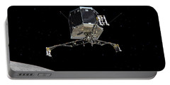 Philae Lander Descending To Comet 67pc-g Portable Battery Charger