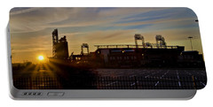 Phillies Citizens Bank Park At Dawn Portable Battery Charger