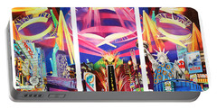 Phish New York For New Years Triptych Portable Battery Charger by Joshua Morton