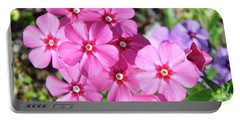 Portable Battery Charger featuring the photograph Phlox Beside The Road by D Hackett