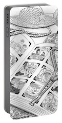 Portable Battery Charger featuring the digital art Photo Album by Carol Jacobs