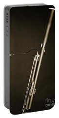 Bassoon Music Instrument Fine Art Prints Canvas Prints Greeting Cards In Sepia 3408.01 Portable Battery Charger