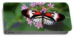 Piano Key Butterfly On Pink Penta Portable Battery Charger