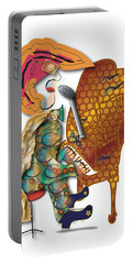 Portable Battery Charger featuring the digital art Piano Man by Marvin Blaine